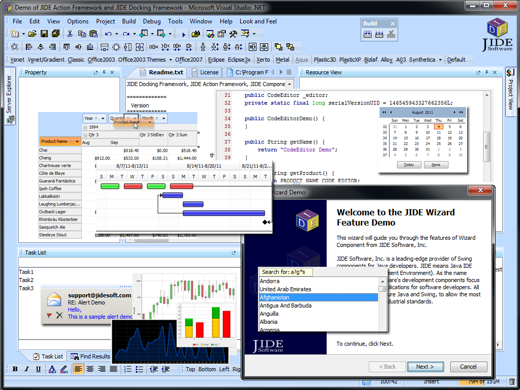 jide software   the best java and swing components library